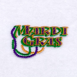 Mardi Gras with Beads embroidery design