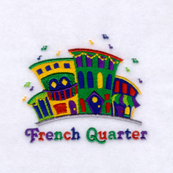 French Quarter with Buildings embroidery design