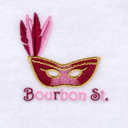 Bourbon St. embroidery design