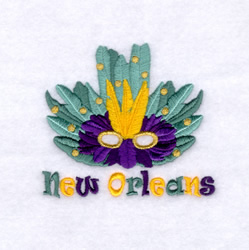 New Orleans Mask 2 embroidery design
