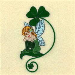 Shamrock Fairy embroidery design