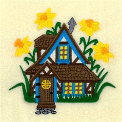 Daffodil Cottage embroidery design