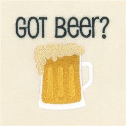 Got Beer ? embroidery design