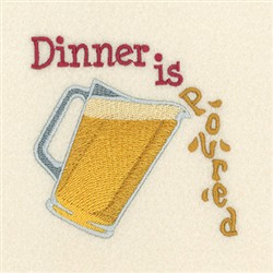 Dinner Is Poured embroidery design