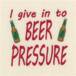 Beer Pressure embroidery design