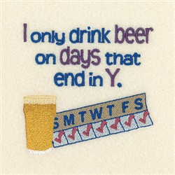 Beer Days embroidery design