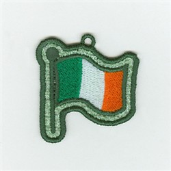 Irish Flag Charm embroidery design