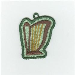 Irish Harp Charm embroidery design