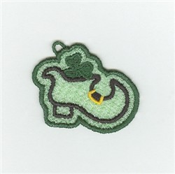 Irish Shoe Charm embroidery design