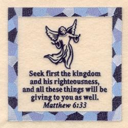 Matthew 6 33 embroidery design