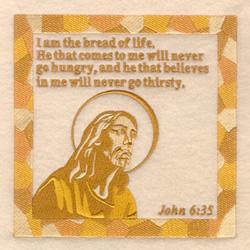 John 6 35 embroidery design