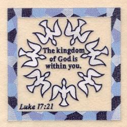 Luke 17  21 embroidery design
