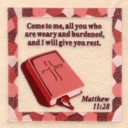 Matthew 11  28 embroidery design