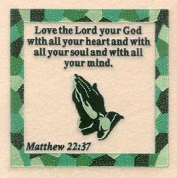 Matthew 22  37 embroidery design