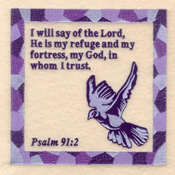 Psalm 91 2 embroidery design