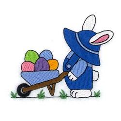 Bunny With Wheelbarrow embroidery design