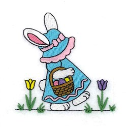 Bunny With Basket embroidery design