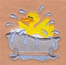 Splashing Rubber Ducky embroidery design