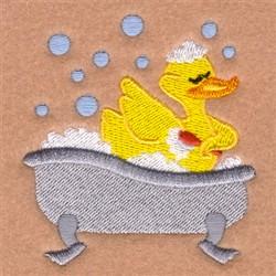 Scrubbing Rubber Ducky embroidery design