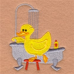 Shower Rubber Ducky embroidery design