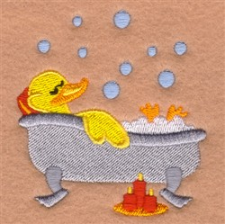 Relaxing Rubber Ducky embroidery design