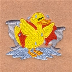 Drying Off Rubber Ducky embroidery design