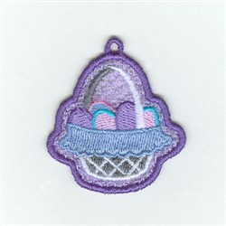 Easter Basket  Charm embroidery design