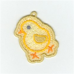 Chick  Lace Charm embroidery design