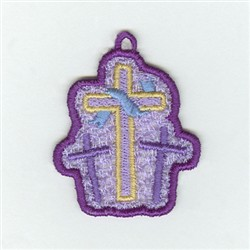 Cross Lace Charm embroidery design