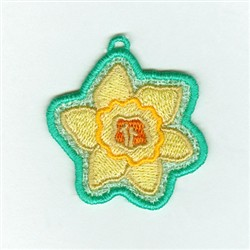 Daffodil Lace Charm embroidery design