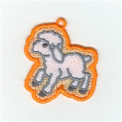 Lamb Lace Charm embroidery design