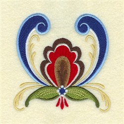 Brandon Rosemaling embroidery design