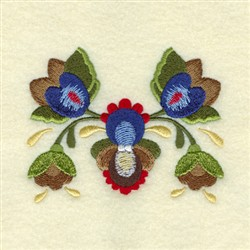 Franklin Rosemaling embroidery design