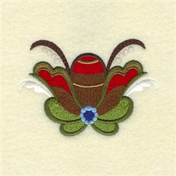 Heather Rosemaling embroidery design