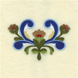 Ingles Rosemaling embroidery design