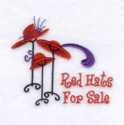 Red Hats for Sale embroidery design