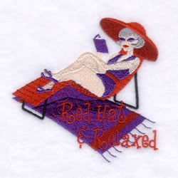Red Hat & Relaxed embroidery design
