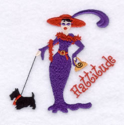 Red Hattitude embroidery design