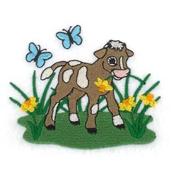Spring Calf embroidery design