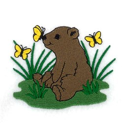 Spring Bear Cub embroidery design