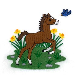 Spring Pony embroidery design