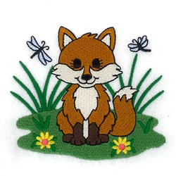 Spring Baby Fox embroidery design