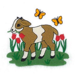 Spring Goat embroidery design