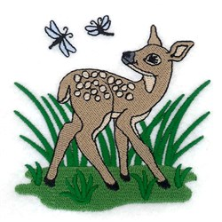 Spring Baby Deer embroidery design