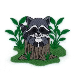Spring Baby Raccoon embroidery design