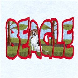 Beagle Scene embroidery design
