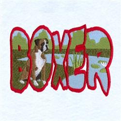 Boxer Scene embroidery design