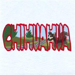 Chihuahua Scene embroidery design