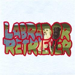 Labrador Retriever Scene embroidery design