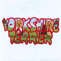 Yorkshire Terrier Scene embroidery design